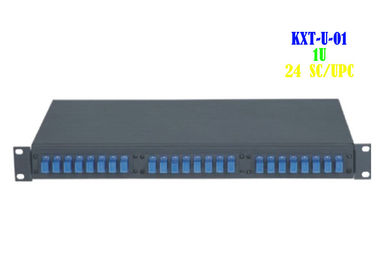 Kabel światłowodowy 24-portowy Patch Panel Rack Mount Network Computer Room Support